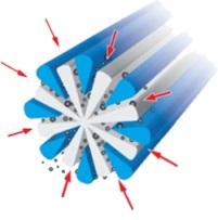 Структура рассеченного микроволокна