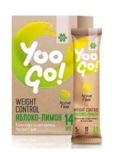 Напиток для контроля веса Yoo go Weight control яблоко лимон
